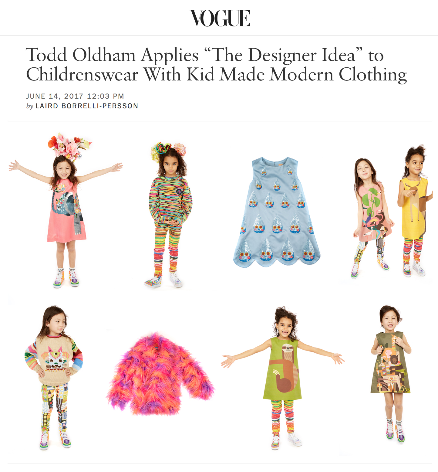 Kid made modern todd oldham studio vogue featured todd oldham and his studios newest addition to the kid made modern line kmm clothing is super fun colorful textural and educational buycottarizona Images