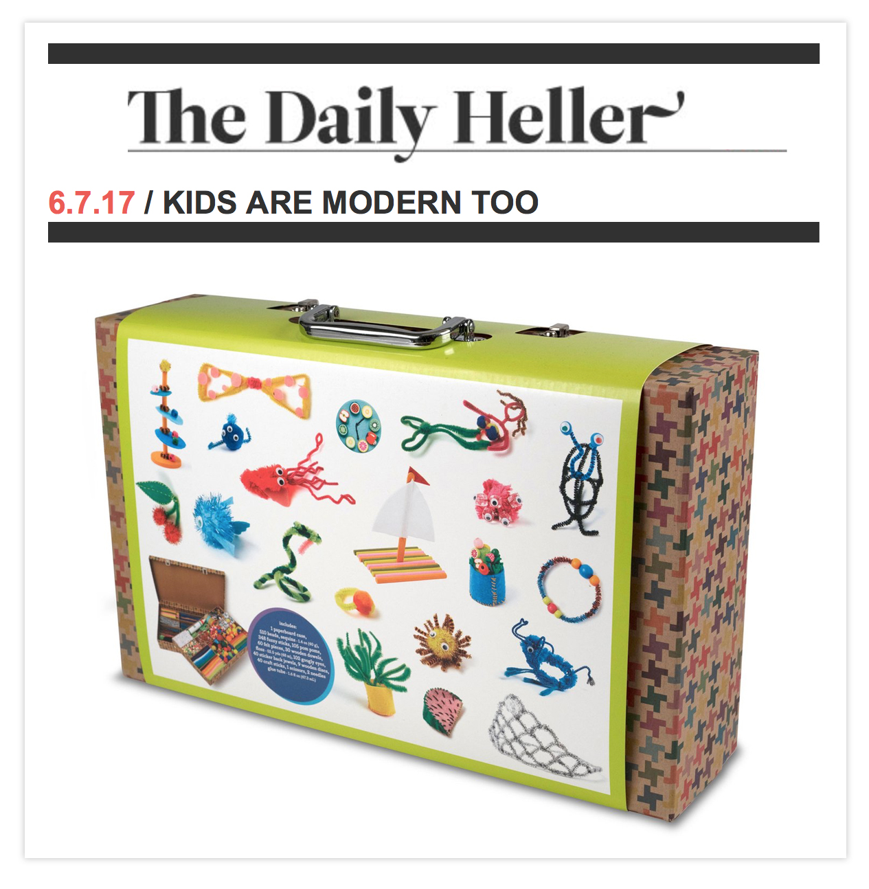 Kid Made Modern on the Daily Heller - Todd Oldham Studio